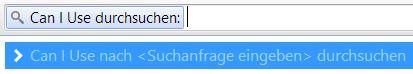 Can I Use schnell durchsuchen (Screenshot)