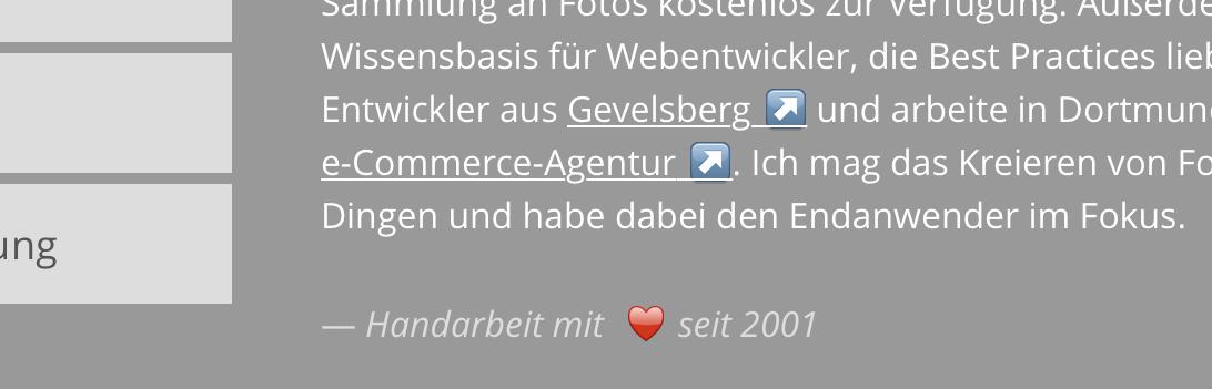 Emoji Icons aus Unicode-Zeichen in Safari (iOS)